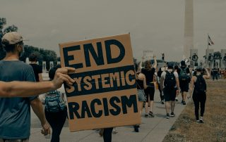 protester with sign